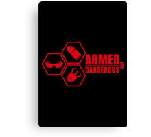 Armed and Dangerous - Prints, Stickers, iPhone & iPad Cases Canvas Print