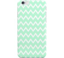 Mint Green Zigzag Stripes iPhone Case  iPhone Case/Skin