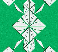 Green & White Perfect Symmetry IPhone Case by Jbui555