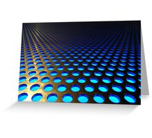 TRON-like: Golden Blue Greeting Card