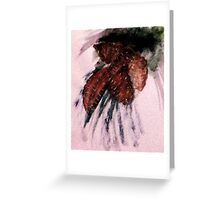 Pine cones, watercolor Greeting Card