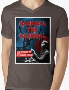Hannibal the Cannibal - B-Movie Poster Mens V-Neck T-Shirt
