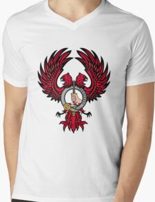 Dunlap Eagle w/ Badge Mens V-Neck T-Shirt