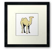 Camel Side View Cartoon Framed Print