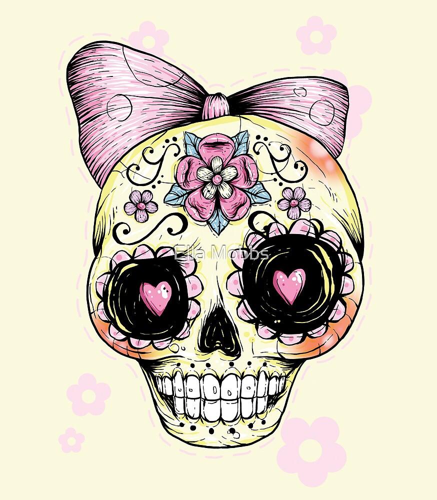 Yellow Sugar Skull by Creep Heart
