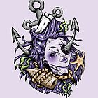 Purple Severed Anchor Head by Ella Mobbs