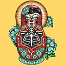 Day of The Dead Russian Doll by Creep Heart
