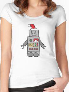 Santa Robot Women's Fitted Scoop T-Shirt