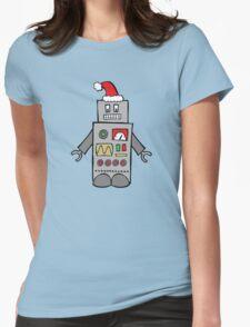 Santa Robot Womens Fitted T-Shirt