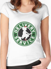 Coffee Delivery Women's Fitted Scoop T-Shirt