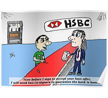 HSBS honesty guarantee caricature Poster