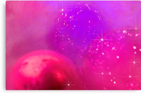 Holiday baubles in pink by Celeste Mookherjee