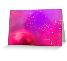 Holiday baubles in pink Greeting Card