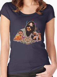 Big lebowski Collage Alternative Women's Fitted Scoop T-Shirt