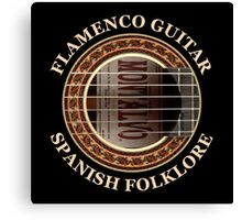 Flamenco Guitar Spanish Folklore Canvas Print