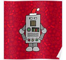 Santa Robot Poster