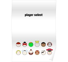 Player Select Minimal Poster Poster