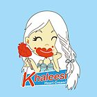 Khaleesi Heart Cream IPad by loku