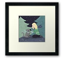 Giving Gifts at Christmas Framed Print
