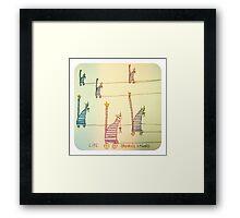Life stringing you along. Framed Print