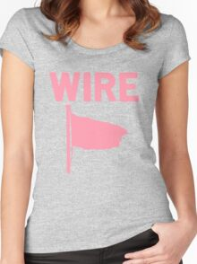Wire - Pink Flag Women's Fitted Scoop T-Shirt