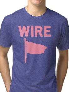 Wire - Pink Flag Tri-blend T-Shirt