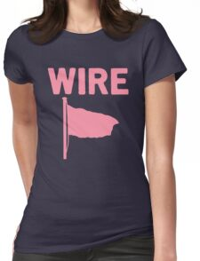 Wire - Pink Flag Womens Fitted T-Shirt