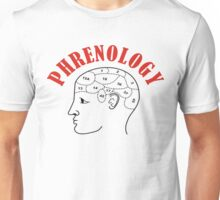 Phrenology Head Chart Unisex T-Shirt
