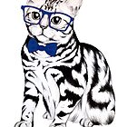 Hipster Cat by LibbyWatkins