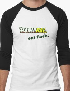 """Hannibal """"Eat Flesh"""" Men's Baseball ¾ T-Shirt"""