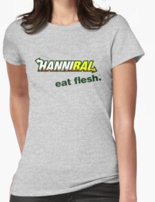 "Hannibal ""Eat Flesh"" Womens Fitted T-Shirt"