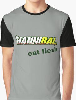 "Hannibal ""Eat Flesh"" Graphic T-Shirt"