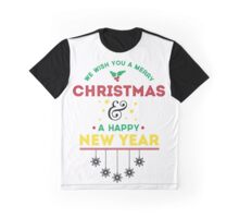 Merry Christmas & Happy New Year Graphic T-Shirt