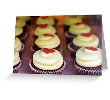 Topped with love hearts & cream Greeting Card