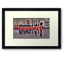 March past in Ottawa, Canada Day 2011 Framed Print