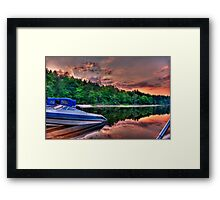 Sunset on the Ottawa River Canada Framed Print