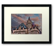 The Fairmont Chateau Laurier in Ottawa, Canada Framed Print