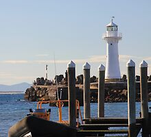 different view of a lighthouse by Invisitatus