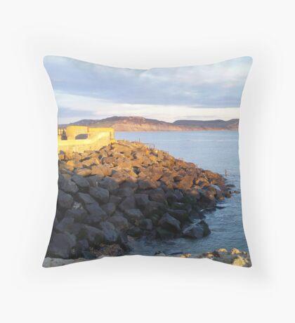 Lyme Regis View To Golden Cap Throw Pillow