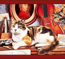 Cat with Instruments Greetings by Yesteryears