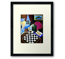 POP ART LETS PLAY CHESS Framed Print