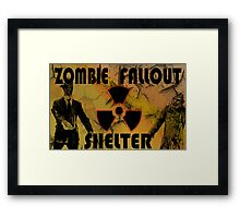 Zombie Fallout Shelter Framed Print