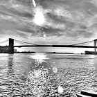 Brooklyn Bridge (Black and White) by Timothy Borkowski