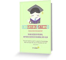 Congradulations! (Male) Greeting Card