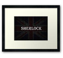 Sherlock Holmes Flag Framed Print
