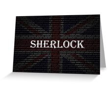 Sherlock Holmes Flag Greeting Card