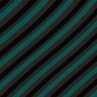 Pattern - stripes - petrol, black, grey by CatchyLittleArt