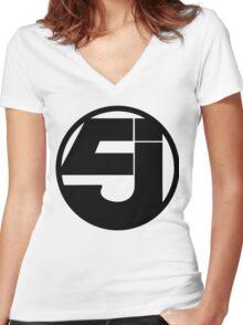 Jurassic 5 Women's Fitted V-Neck T-Shirt