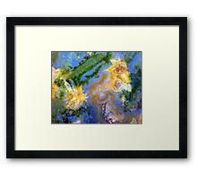 Daffodils (Red Lightning Agate) Framed Print