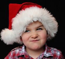 Santa with a 'tude by Tracy Friesen